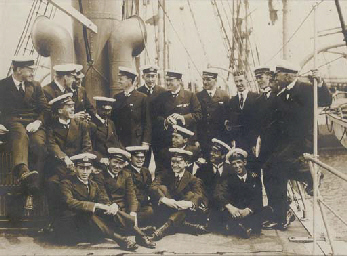 Shackleton and his crew on the