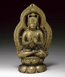 A Brass Figure of Avalokiteshv