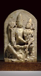 A Small Marble Stele of Shiva