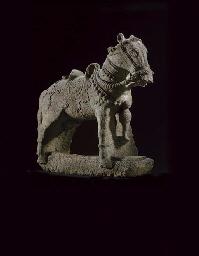 A Rare Granite Figure of a Hor