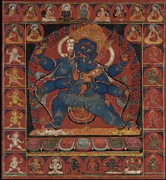 A Thangka of Vajrapani Mahachakra