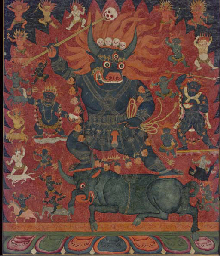 A THANGKA OF OUTER YAMA DHARMA