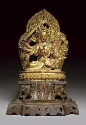 A Gilt Bronze Figure of Maha A