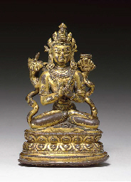 A Small Gilt Bronze Figure of