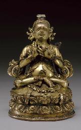 A Gilt Bronze Figure of Virupa
