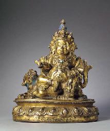 A Gilt Bronze Figure of Vaishr