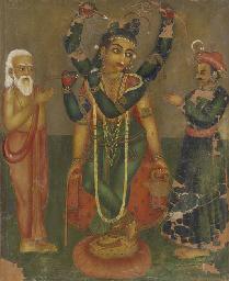 Lord Chaitanya in his divine f