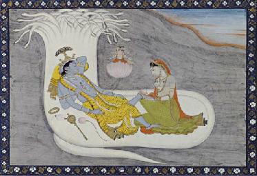 Vishnu reclining on Sesanaga