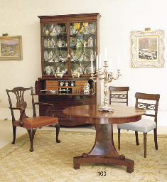 A FRENCH MAHOGANY EXTENDING CE