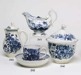 A WORCESTER BLUE AND WHITE SPA