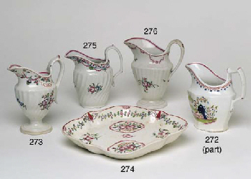 AN ENGLISH PORCELAIN FLUTED CR
