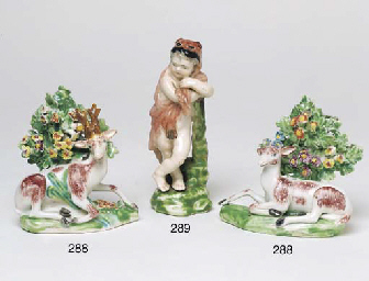 A PAIR OF DERBY BOCAGE FIGURES