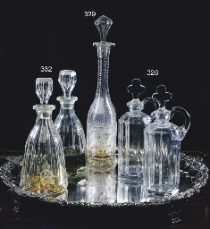 A PAIR OF VICTORIAN CUT GLASS