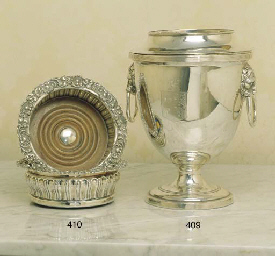 AN ANTIQUE SHEFFIELD PLATE URN