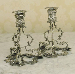 A PAIR OF IRISH STERLING SILVE