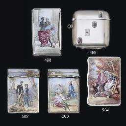 A silver and enamel vesta case