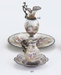 A SILVER-MOUNTED VIENNESE ENAM