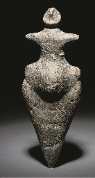 A NEOLITHIC POTTERY STEATOPYGOUS IDOL