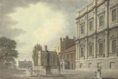 The Banqueting House and the Privy Garden, Whitehall, London