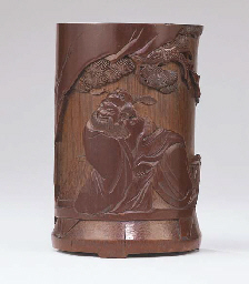 A FINELY CARVED 'ZHONG KUI' BA