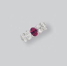 A DIAMOND AND RUBY ETERNITY BA