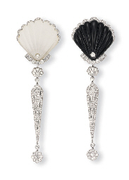A PAIR OF ROCK CRYSTAL OR ONYX