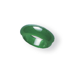 A JADEITE SADDLE RING