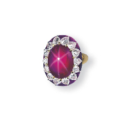SUPERB STAR RUBY, DIAMOND AND