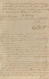 PENN, John (1740-1788), Signer (North Carolina) . Autograph letter signed...