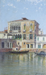 View of a palace, Venice