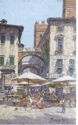 A fruit market, Verona