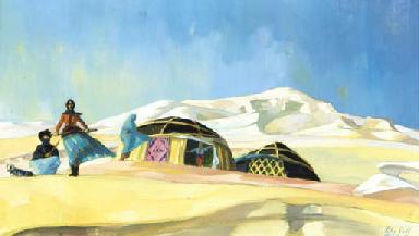 Turkish huts in a desert lands