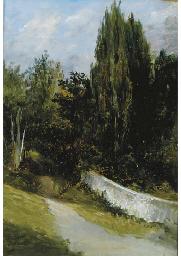 A view of a path along a garde