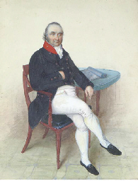 A Gentleman seated at a table;