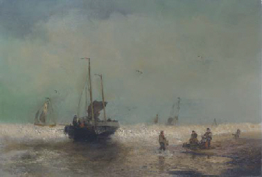 Fishing boats coming ashore