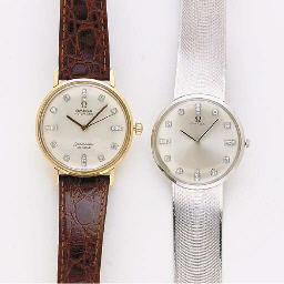 A GROUP OF 14K GOLD AND DIAMOND WRISTWATCHES, BY OMEGA