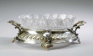 A GERMAN SILVER-GILT AND CUT-G