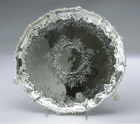 THREE SILVER-PLATED CIRCULAR F