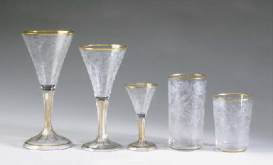 A CONTINENTAL CUT-GLASS AND PA