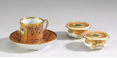A GROUP OF ENGLISH PORCELAIN T