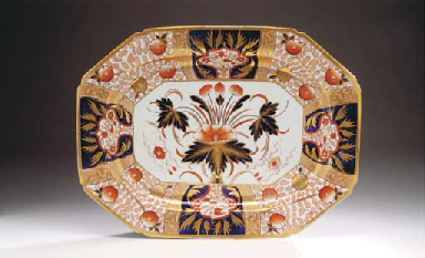 A SPODE IRONSTONE SERVING DISH