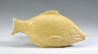 A STAFFORDSHIRE YELLOW-WARE FI