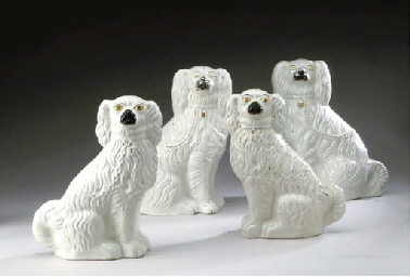 TWO PAIRS OF STAFFORDSHIRE MOD