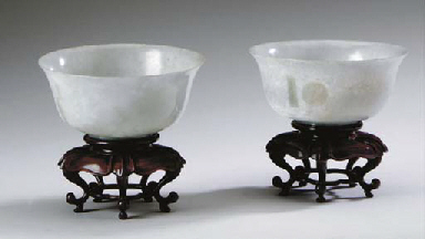 A PAIR OF CHINESE PALE GRAYISH