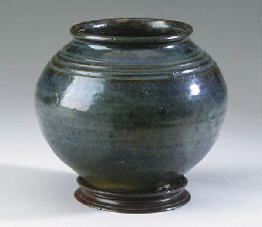A CHINESE PORCELAIN BLUISH-BRO
