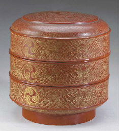 A JAPANESE RED LACQUER CIRCULA