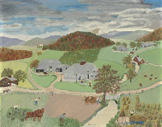 grandma moses essay Custom essay writing service question description grandma moses was known as a primitive artist or folk artist since she never received formal training as a visual artist, grandma moses did not use many of the methods and techniques known by the trained artists of her day.