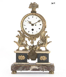 A French ormolu and marble por