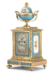 A Napoleon III ormolu and porc