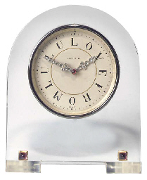 A Swiss crystal desk timepiece